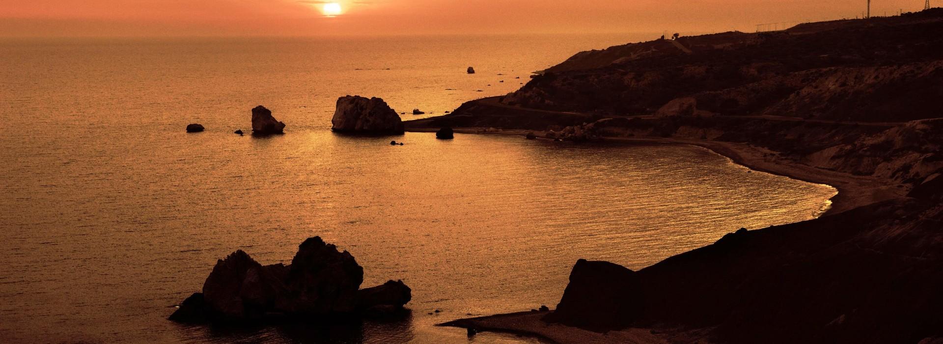 Petra_tou_Romiou_Sunset